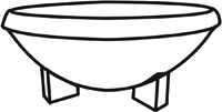 Diagram of Ceremonial Bowl with 4 Legs