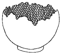 Diagram of Footed Planter